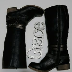 JOLLY POP Jassina Black Knee Boot 6.5M